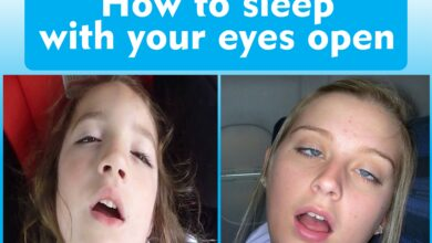 How to sleep with your eyes open