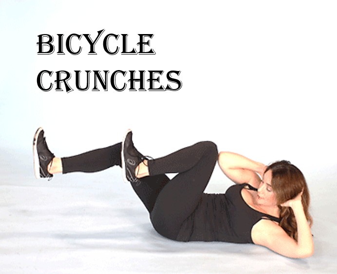 How to get rid of love handles bycycle crunches