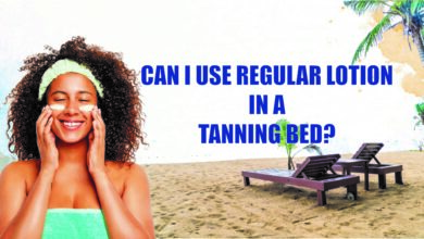 Can I use regular lotion in a tanning bed