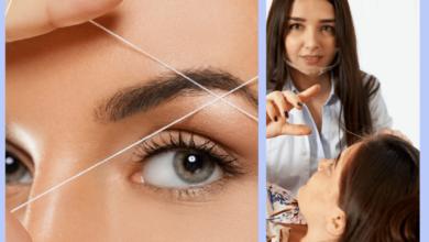 Self-eyebrow threading machine